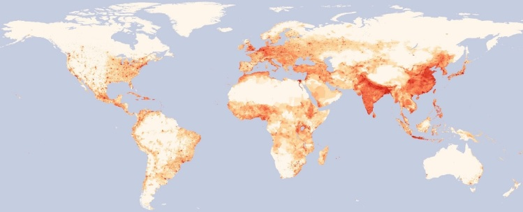 Population Density worldmap